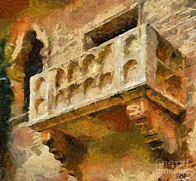 Juliet's Balcony Poster by Dragica  Micki Fortuna