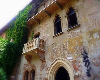 Juliet's Balcony In Verona Poster