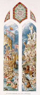 Julius Caesar Arrives On The Shores Poster