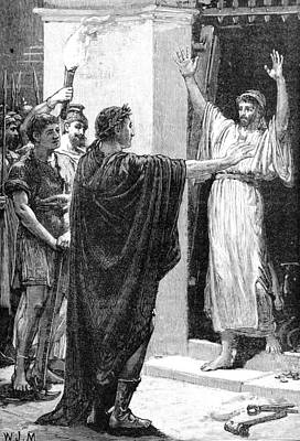Julius Caesar Plunders Temple Of Saturn Poster by British Library