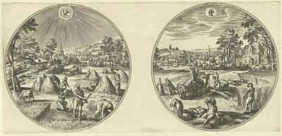 July And August, Adriaen Collaert, Hans Bol Poster by Adriaen Collaert And Hans Bol And Hans Van Luyck