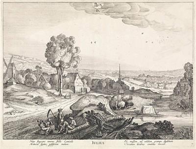 July, Jan Van De Velde II Poster by Jan Van De Velde (ii) And Claes Jansz. Visscher (ii)