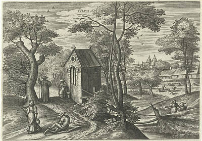 July, Julius Goltzius, Gillis Mostaert Poster by Julius Goltzius And Gillis Mostaert (i) And Hans Van Luyck