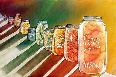 July's Harvest Poster by Starr Weems