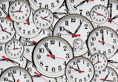 Jumbled Clock Times Poster by Victor De Schwanberg