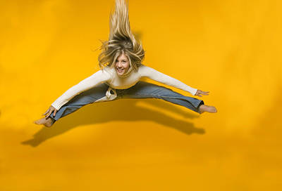 Jumping Girl Poster by Bob Pardue