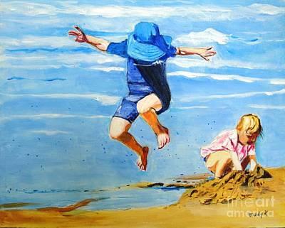 Jump'n Jack And Jill Poster by Judy Kay