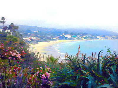 June Gloom Morning At Laguna Beach Coast Poster by Elaine Plesser