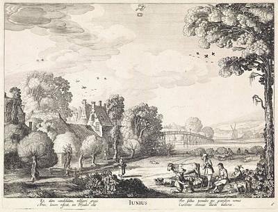 June, Jan Van De Velde II Poster by Jan Van De Velde (ii) And Claes Jansz. Visscher (ii)