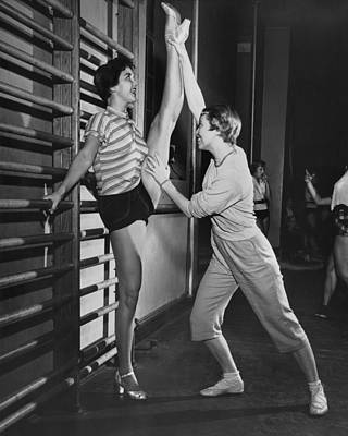 June Taylor Stretches Dancer Poster