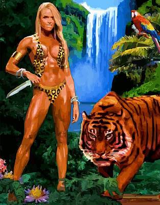 Poster featuring the digital art Jungle Girl by P Dwain Morris
