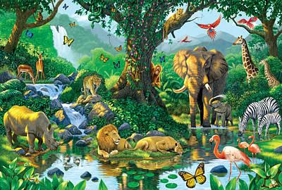 Jungle Harmony Poster