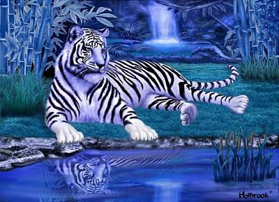 Jungle Tiger Poster by Glenn Holbrook