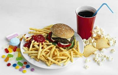 Junk Food Poster by Science Photo Library
