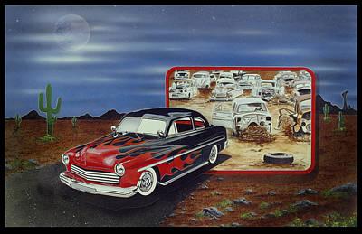 Junk Yard Gem Poster by Lance Graves