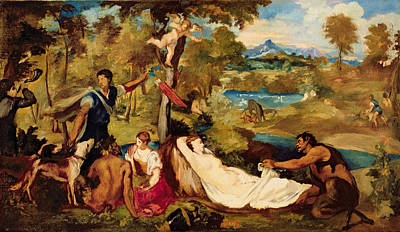 Jupiter And Antiope Poster by Edouard Manet
