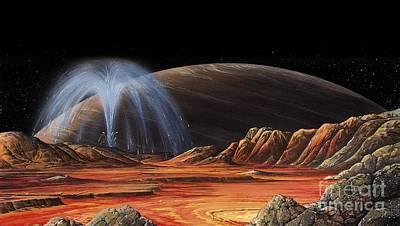 Jupiter From Io, Artwork Poster by Gary Hincks