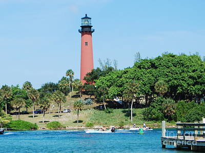Poster featuring the photograph Jupiter Inlet by William Wyckoff