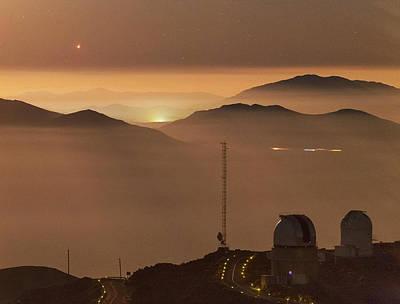 Jupiter Over La Silla Observatory Poster