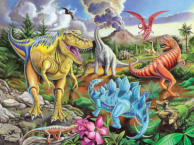 Jurassic Jubilee Poster by Mark Gregory