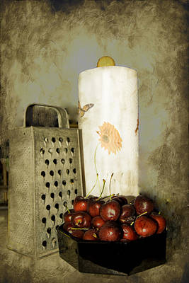 Just A Bowl Of Cherries Poster by Judy Hall-Folde