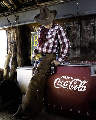 Poster featuring the photograph Just Another Coca-cola Cowboy 2 by James Sage