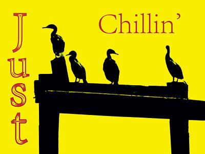 Just Chillin' Poster by Deborah  Crew-Johnson