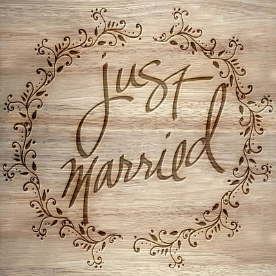 Just Married Poster by Sd Graphics Studio