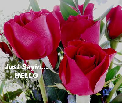 Sending Red Roses Poster by Belinda Lee