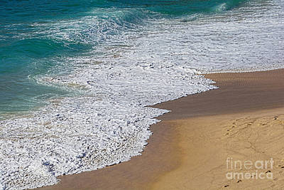 Just Waves And Sand By Kaye Menner Poster