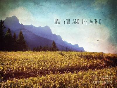 Poster featuring the photograph Just You And The World by Sylvia Cook