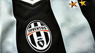 Juventus Poster Art Poster by Florian Rodarte