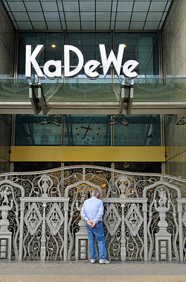Kadewe Entrance Berlin Germany Poster