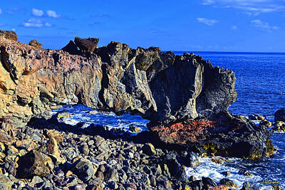 Poster featuring the photograph Kaena Point Rock Arch by Aloha Art