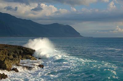 Kaena Point State Park Crashing Wave - Oahu Hawaii Poster