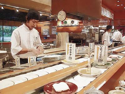 Kaiten Sushi - Japan Poster by Daniel Hagerman