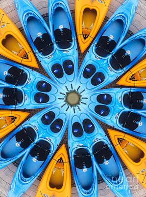 Kaleidoscope Canoes Poster