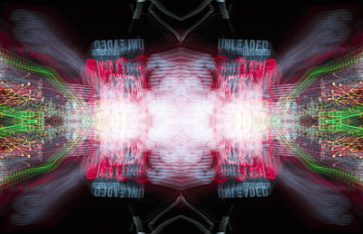 Kaleidoscope Mirrored Tripping On Psychedelic Unleaded Gas Price Experimental Photography Poster
