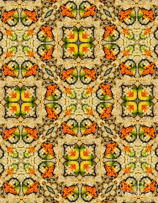 Kaleidoscope Vegetable Sushi Poster
