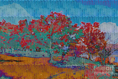 Kaleidoscopic Autumn Scene I Poster by Beverly Claire Kaiya