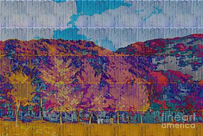 Kaleidoscopic Autumn Scene Vi Poster by Beverly Claire Kaiya