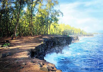 Kaloli Point Hawaii Poster by Ellen Cotton