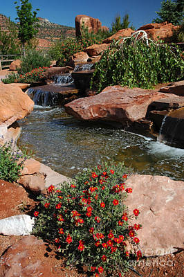 217p Kanab Ut Water Feature Poster by NightVisions