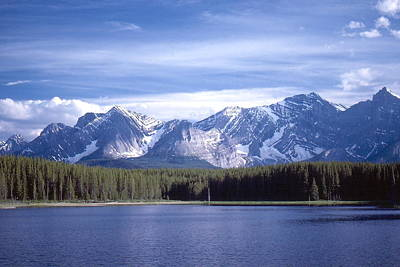 Poster featuring the photograph Kananaskis Mountains Lake by Jim Sauchyn