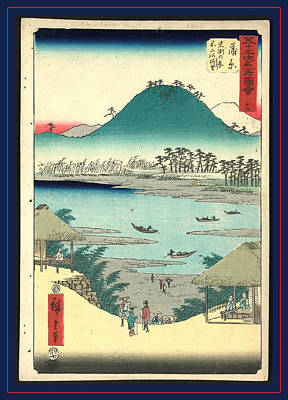 Kanbara, Ando Ca. 1855, 1 Print  Woodcut Poster