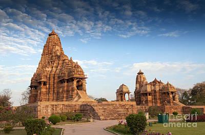 Kandariya Mahadeva Temple Khajuraho India Unesco World Heritage Site Poster