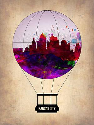 Kansas City Air Balloon Poster by Naxart Studio