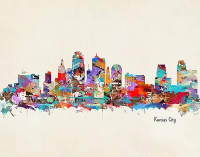 Kansas City Missouri Poster by Bri B