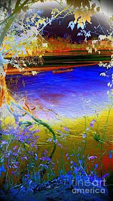Kansas River 2 Poster by Karen Newell