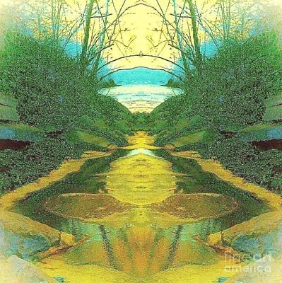 Kansas River Poster by Karen Newell